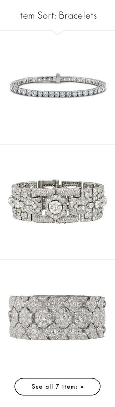 """""""Item Sort: Bracelets"""" by quiche ❤ liked on Polyvore featuring jewelry, bracelets, diamond, blue nile, 18 karat gold jewelry, diamond jewelry, 18k bangle, diamond bangles, star jewelry and diamond jewellery"""