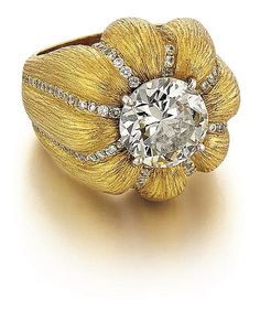 Lee Havens, 18kt Yellow Gold and 3.91ct Diamond Lady's Ring