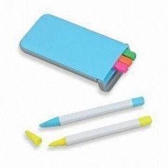 Stationery Set with Highlighters Office Stationery, Stationery Set, Highlighters, Custom Bags, Promotion, Gifts, Presents, Highlighter Pen, Favors