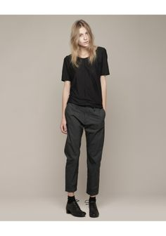 Hope / Drape Tee & Trouser + Marsèll / Patent Back Lace Up