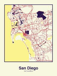 San Diego USA Map Print Art Prints Pinterest San Diego Usa - San diego us map