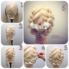How to Tutorial: Braided Hair Updo with flowers