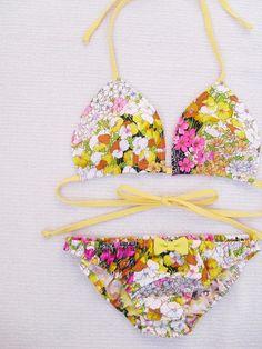 Fleur Fashion...Floral Print Bikini~