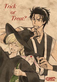 "Kurogane and Fay ""Trick or Treat"" (Tsubasa Chronicle) -> blood-clamp: "" Nekoi's Twitter """