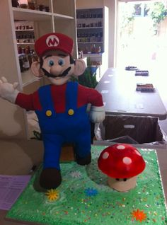 How to make a Super Mario cake or any other standing figure By Tali5484 on CakeCentral.com