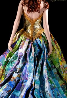 dress made entirely from used children's book covers, by ryan novelline