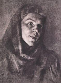 академический рисунок. портрет
