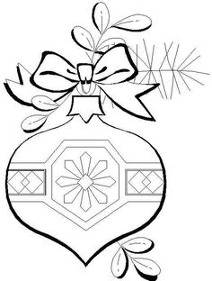 Free Coloring Pages: Christmas Ornaments Coloring Page...possible appliqué designs?!