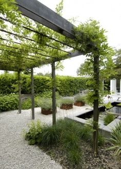 What Is Modern Landscaping? Pergola Garden, Metal Pergola, Pergola Shade, Diy Pergola, Pergola Plans, Garden Trellis, Metal Roof, Deck Gazebo, Pergola Screens