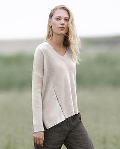 Image of Asymmetric rib sweater