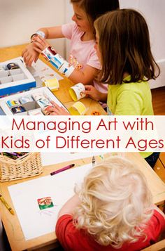 Managing Kids Art With Children of Different Ages