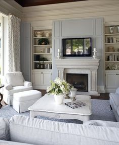 Family Room Layout Design Ideas, Pictures, Remodel, and Decor - page 13 Living Room Paint, Living Room Grey, Home Living Room, Living Room Designs, Living Room Decor, Lilac Living Rooms, Decor Room, Cozy Living, Small Living