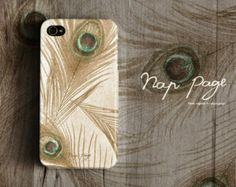 Apple iphone case for iphone iphone 5 iphone 5s iphone 5c iphone 4 iphone 4s iPhone 3Gs : Vintage peacock feather