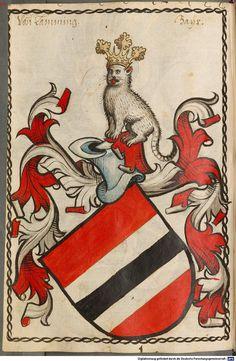 Scheibler'sches Wappenbuch Süddeutschland, um 1450 - 17. Jh. Cod.icon. 312 c Folio 258
