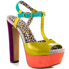 Jessica Simpsons Multi-Color Kadi - Lime Pearl Sue for 99.99 direct from heels.com