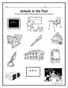 Past and Present picture sort for teaching about life then