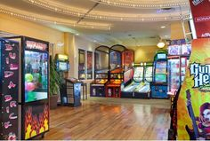 Kids of all ages will enjoy the video games, air hockey and billiard tables in the clubhouse arcade at The Fountains.— The Fountains, Ascend Hotel Collection® Bluegreen Resorts, Bluegreen Vacations, Orlando Resorts, Orlando Florida, Hotel Games, Arcade Game Room, Universal Studios, Blue Green, Air Hockey