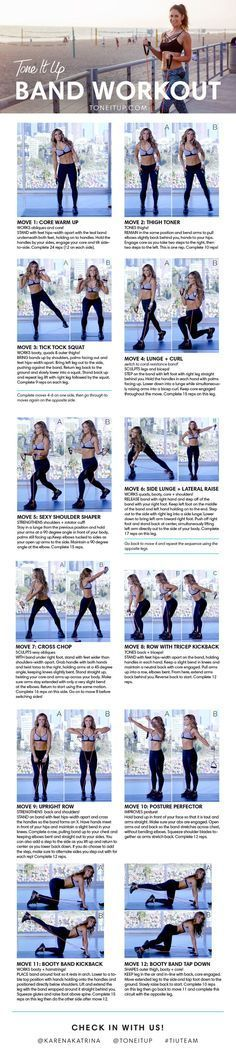 cool BEST resistance band workout to tone your entire body!! Tone It Up!!...