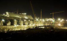Canteiro de obras do sítio Belo Monte, onde esta sendo construída a casa de força principal da hidrelétrica de Belo Monte, no rio Xingu.