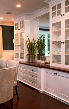 dining room window ideas sunroom what if instead of mirror it was abay window great craftsman builtin idea love this including mirror for dinning room 21 dining room builtin cabinets and storage design ideas
