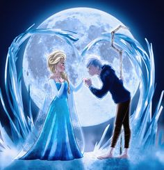 Frozen Love Jelsa is my ship Disney Pixar, Disney And Dreamworks, Disney Magic, Disney Art, Disney Movies, Disney Ships, Jack Frost Und Elsa, Jack Y Elsa, Jelsa
