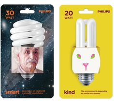 Philips energy savers in clever #packaging PD