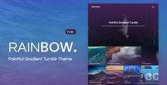 Rainbow | Gradient Grid Tumblr Theme (Blog) - http://wpskull.com/rainbow-gradient-grid-tumblr-theme-blog/wordpress-offers