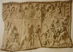 Colonna traiana - l'esercito romano è assediato dai Daci.