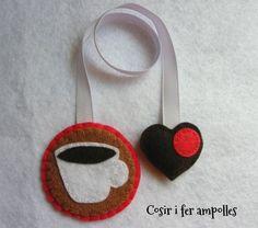 Punto de libro Café corazón rojo, Papel, Marcapáginas