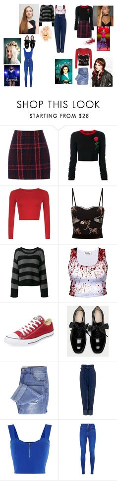 """""""OOTD Elsa Larrson-Brannon, JJ Grey, Harlei Xavier and Erika Wagner"""" by queen-p-bxtch ❤ liked on Polyvore featuring Redken, Oasis, County Of Milan, La Perla, RtA, Converse, Taya, Rachel Comey, Karen Millen and Ryder"""
