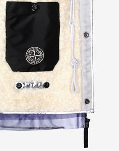 491Y1 POLY COVER COMPOSITE + INTERNO STACCABILE IN POLY FUR ARGENTO Mid Length Jacket Stone Island Men -Stone Island Online Store