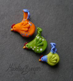 RESERVED    choose your chicken and I will make her into a pendant for you    individually sculpted, each one is slightly different.    I make my