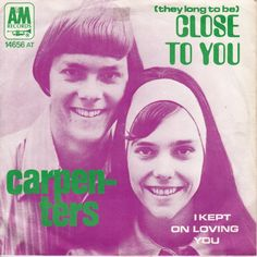 July 25, 1970 - The Carpenters started a four week run at No.1 on the US singles chart with '(They Long To Be) Close To You'. The first of three US No.1's and 17 other Top 40 hits. The song was written in 1963 by Hal David and Burt Bacharach and was first offered to Herb Alpert, who said he didn't feel comfortable singing the line 'so they sprinkled moon dust in your hair'. •• #thecarpenters #carpenters #thisdayinmusic #1970s #karencarpenter #richardcarpenter #pop #burtbacharach #haldavid