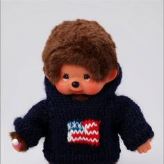 Patriotic monchhichi...OMG, give him to me!!