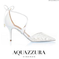 Matilda, è parte dell'esclusiva collezione Bridal by AQUAZZURA. Una scarpa senza tempo, straordinariamente comoda, favolosamente elegante  #weddingdress #wedding #matrimonio #sposa #weddingidea