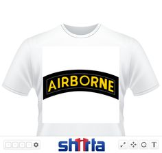 US Army Airborne tab in black and white 0f3733ee267