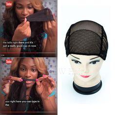 3 unids Envío Gratis negro/brown llena del cordón peluca caps para la fabricación de pelucas Tamaño libre de la peluca cap net weaving tapas con correas ajustables de espalda