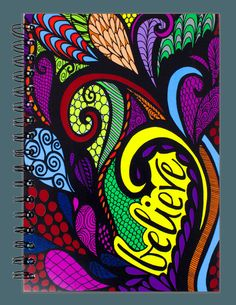 """Believe"" Colored Spiral Notebook Journal"
