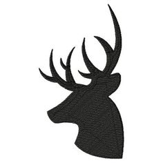 Deer Head Machine Embroidery Design Single