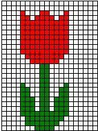 Grid Art activity from Making Learning Fun. - Grid Art activity from Making Learning Fun. Tiny Cross Stitch, Simple Cross Stitch, Cross Stitch Flowers, Cross Stitch Designs, Cross Stitch Patterns, Perler Patterns, Loom Patterns, Beading Patterns, Graph Paper Art