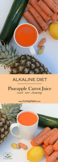 This pineapple carrot juice recipe is perfect for the Alkaline Diet , The Wahls Protocol, Paleo AIP, Autoimmune Disease Protocol, and Leaky-gut Health.