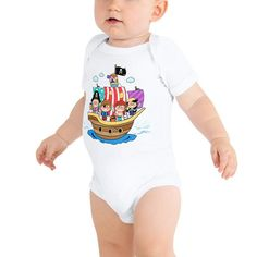 Dress your baby to the nines with this cotton one piece. It has three snap leg closure for easy changing, a comfortable envelope neckline, and a beautiful print that's bound to get the baby all happy and giggling. Love Me Meme, Me Too Meme, Sports Slogans, Handmade Dresses, Long Sleeve Bodysuit, Baby Bodysuit, Funny Shirts, Baby Shower Gifts, Onesies