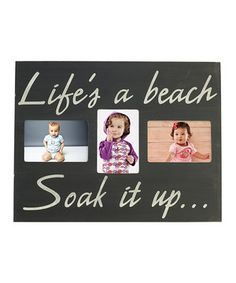 Look at this #zulilyfind! 'Life's a Beach' Photo Plaque Wall Art by Elements by Lifetime Brands #zulilyfinds