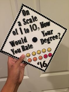 """On a scale of 1 to 10, how would you rate your degree?"" - Baymax.  Class of 2016 graduation cap, inspired by one of my favorite Disney movies of all time ""Big Hero 6""."