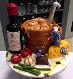 Ratatouille cake..... Too cute..... Karla P cakesdecor.com