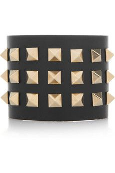Valentino  Studded leather cuff
