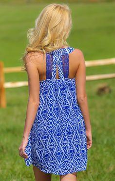 Ice Breaker Dress-Royal - $39.00