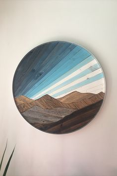 This beautiful mountain landscape is made with reclaimed wood! It is part of our new Ridge Line Collection. Easy Woodworking Projects, Diy Wood Projects, Woodworking Plans, Wood Crafts, Art Projects, Vinyl Projects, Woodworking Tools, Reclaimed Wood Furniture, Reclaimed Barn Wood