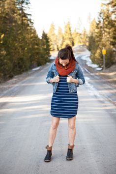 Spring look in Montana from style blog. Love this dress/sleep shirt from Target  www.114-west.com
