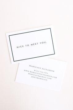 Margeaux: Letterpress Calling Cards - Set of 50. $95.00, via Etsy.